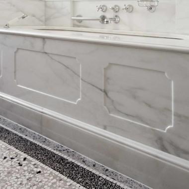 Floran stone projects bagno in marmo calacatta caldia, nero ...
